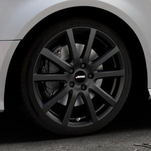 AUTEC Skandic Schwarz matt Felge mit Reifen in 18Zoll Winterfelge Alufelge auf silbernem Audi A3 Typ 8V Facelift ⬇️ mit 15mm Tieferlegung ⬇️ Industriehalle 1 Thumbnail