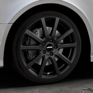 AUTEC Skandic Schwarz matt Felge mit Reifen in 18Zoll Winterfelge Alufelge auf silbernem Audi A3 Typ 8V (Limousine) Facelift ⬇️ mit 15mm Tieferlegung ⬇️ Industriehalle 1 Thumbnail