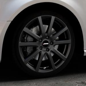 AUTEC Skandic Schwarz matt Felge mit Reifen in 18Zoll Winterfelge Alufelge auf silbernem Audi A3 Typ 8V (Sportback) ⬇️ mit 15mm Tieferlegung ⬇️ Industriehalle 1 Thumbnail