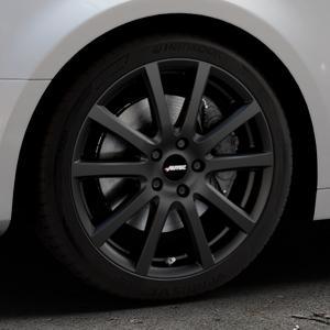 AUTEC Skandic Schwarz matt Felge mit Reifen in 18Zoll Winterfelge Alufelge auf silbernem Audi A4 Typ B9 (Limousine) ⬇️ mit 15mm Tieferlegung ⬇️ Industriehalle 1 Thumbnail
