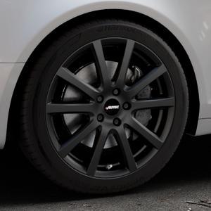 AUTEC Skandic Schwarz matt Felge mit Reifen in 18Zoll Winterfelge Alufelge auf silbernem Audi A6 Typ 4F/C6 (Avant) ⬇️ mit 15mm Tieferlegung ⬇️ Industriehalle 1 Thumbnail