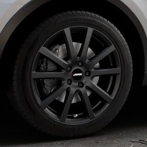 AUTEC Skandic Schwarz matt Felge mit Reifen in 18Zoll Winterfelge Alufelge auf silbernem Audi Q3 I Typ 8U Facelift ⬇️ mit 15mm Tieferlegung ⬇️ Industriehalle 1 Thumbnail