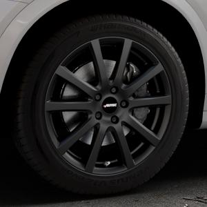 AUTEC Skandic Schwarz matt Felge mit Reifen in 18Zoll Winterfelge Alufelge auf silbernem BMW X4 Typ F26 (X3, X-N1) ⬇️ mit 15mm Tieferlegung ⬇️ Industriehalle 1 Thumbnail