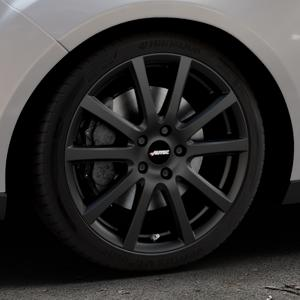 AUTEC Skandic Schwarz matt Felge mit Reifen in 18Zoll Winterfelge Alufelge auf silbernem Ford Focus III Typ DYB Facelift (Turnier) ⬇️ mit 15mm Tieferlegung ⬇️ Industriehalle 1 Thumbnail