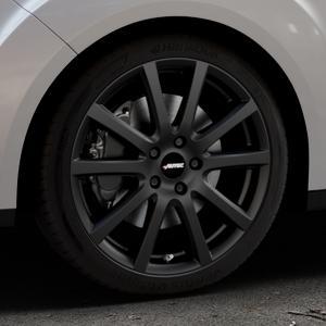 AUTEC Skandic Schwarz matt Felge mit Reifen in 18Zoll Winterfelge Alufelge auf silbernem Ford Grand C-Max Typ DXA Facelift (15->) ⬇️ mit 15mm Tieferlegung ⬇️ Industriehalle 1 Thumbnail