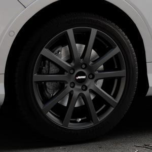 AUTEC Skandic Schwarz matt Felge mit Reifen in 18Zoll Winterfelge Alufelge auf silbernem Ford Kuga II Facelift (15->) (17->) ⬇️ mit 15mm Tieferlegung ⬇️ Industriehalle 1 Thumbnail