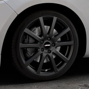 AUTEC Skandic Schwarz matt Felge mit Reifen in 18Zoll Winterfelge Alufelge auf silbernem Ford Mondeo IV Limousine Typ BA7 Turnier Fließheck ⬇️ mit 15mm Tieferlegung ⬇️ Industriehalle 1 Thumbnail