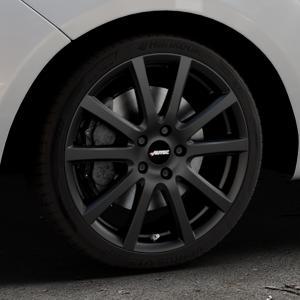 AUTEC Skandic Schwarz matt Felge mit Reifen in 18Zoll Winterfelge Alufelge auf silbernem Hyundai ix20 Typ JC ⬇️ mit 15mm Tieferlegung ⬇️ Industriehalle 1 Thumbnail