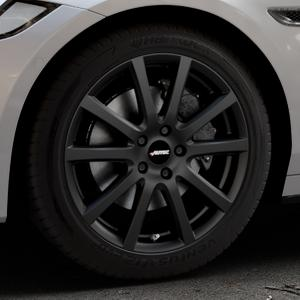 AUTEC Skandic Schwarz matt Felge mit Reifen in 18Zoll Winterfelge Alufelge auf silbernem Jaguar XF Sportbrake Typ JB ⬇️ mit 15mm Tieferlegung ⬇️ Industriehalle 1 Thumbnail