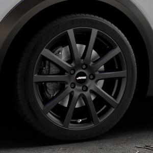 AUTEC Skandic Schwarz matt Felge mit Reifen in 18Zoll Winterfelge Alufelge auf silbernem Mazda CX-3 Typ DJ1 ⬇️ mit 15mm Tieferlegung ⬇️ Industriehalle 1 Thumbnail
