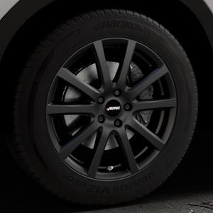 AUTEC Skandic Schwarz matt Felge mit Reifen in 18Zoll Winterfelge Alufelge auf silbernem Mazda CX-5 Typ KE ⬇️ mit 15mm Tieferlegung ⬇️ Industriehalle 1 Thumbnail