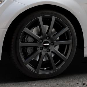 AUTEC Skandic Schwarz matt Felge mit Reifen in 18Zoll Winterfelge Alufelge auf silbernem Mercedes C-Klasse Typ W204 Limousine ⬇️ mit 15mm Tieferlegung ⬇️ Industriehalle 1 Thumbnail