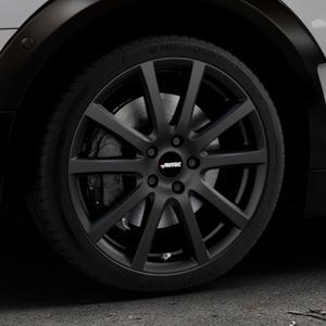 AUTEC Skandic Schwarz matt Felge mit Reifen in 18Zoll Winterfelge Alufelge auf silbernem Mini F54 Typ UKL-L (Clubman) FMK ⬇️ mit 15mm Tieferlegung ⬇️ Industriehalle 1 Thumbnail