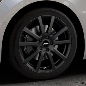 AUTEC Skandic Schwarz matt Felge mit Reifen in 18Zoll Winterfelge Alufelge auf silbernem Renault Talisman Typ RFD ⬇️ mit 15mm Tieferlegung ⬇️ Industriehalle 1 Thumbnail