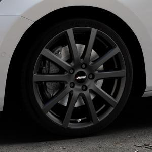 AUTEC Skandic Schwarz matt Felge mit Reifen in 18Zoll Winterfelge Alufelge auf silbernem Skoda Superb III Kombi Typ 3V ⬇️ mit 15mm Tieferlegung ⬇️ Industriehalle 1 Thumbnail