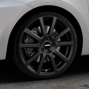 AUTEC Skandic Schwarz matt Felge mit Reifen in 18Zoll Winterfelge Alufelge auf silbernem Suzuki Swift VI Typ AZ ⬇️ mit 15mm Tieferlegung ⬇️ Industriehalle 1 Thumbnail