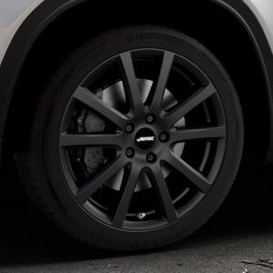 AUTEC Skandic Schwarz matt Felge mit Reifen in 18Zoll Winterfelge Alufelge auf silbernem Suzuki Vitara Typ LY ⬇️ mit 15mm Tieferlegung ⬇️ Industriehalle 1 Thumbnail