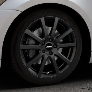 AUTEC Skandic Schwarz matt Felge mit Reifen in 18Zoll Winterfelge Alufelge auf silbernem Volkswagen (VW) Passat 3C/B8 Limousine Variant ⬇️ mit 15mm Tieferlegung ⬇️ Industriehalle 1 Thumbnail