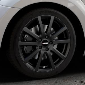 AUTEC Skandic Schwarz matt Felge mit Reifen in 18Zoll Winterfelge Alufelge auf silbernem Volkswagen (VW) The Beetle Typ 16 ⬇️ mit 15mm Tieferlegung ⬇️ Industriehalle 1 Thumbnail