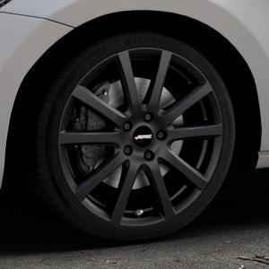 AUTEC Skandic Schwarz matt Felge mit Reifen in 18Zoll Winterfelge Alufelge auf silbernem Volkswagen (VW) Touran III Typ 1T (15->) ⬇️ mit 15mm Tieferlegung ⬇️ Industriehalle 1 Thumbnail