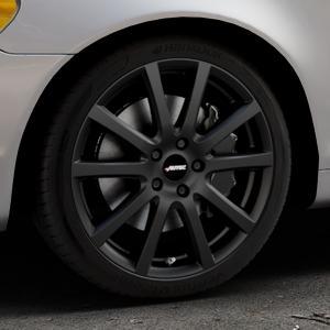 AUTEC Skandic Schwarz matt Felge mit Reifen in 18Zoll Winterfelge Alufelge auf silbernem Volvo C70 II Cabriolet Typ M ⬇️ mit 15mm Tieferlegung ⬇️ Industriehalle 1 Thumbnail