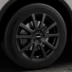 AUTEC Skandic Schwarz matt Felge mit Reifen in 18Zoll Winterfelge Alufelge auf silbernem Volvo XC40 Typ X ⬇️ mit 15mm Tieferlegung ⬇️ Industriehalle 1 Thumbnail