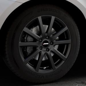 AUTEC Skandic Schwarz matt Felge mit Reifen in 18Zoll Winterfelge Alufelge auf silbernem Volvo XC60 Typ D Facelift ⬇️ mit 15mm Tieferlegung ⬇️ Industriehalle 1 Thumbnail