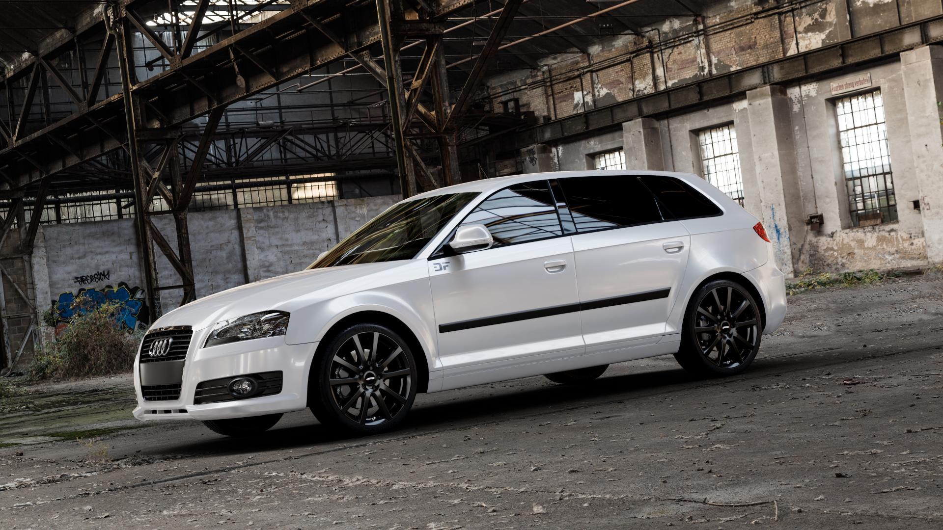 AUTEC Skandic Schwarz matt Felge mit Reifen in 18Zoll Winterfelge Alufelge auf weissem Audi A3 Typ 8P (Sportback) 1,6l 75kW (102 PS) 2,0l FSI 110kW (150 1,9l TDI 77kW (105 103kW (140 TFSI 147kW (200 85kW (116 100kW (136 1,8l 118kW (160 125kW (170 1,4l 92kW (125 120kW (163 quattro 3,2l V6 184kW (250 S3 195kW (265 1,2l 66kW (90 18