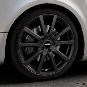 AUTEC Skandic Schwarz matt Felge mit Reifen in 19Zoll Winterfelge Alufelge auf silbernem Audi A5 Typ B8 (Sportback) ⬇️ mit 15mm Tieferlegung ⬇️ Industriehalle 1 Thumbnail