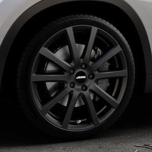 AUTEC Skandic Schwarz matt Felge mit Reifen in 19Zoll Winterfelge Alufelge auf silbernem BMW X1 Typ E84 (X1, X-N1, X1-N1) ⬇️ mit 15mm Tieferlegung ⬇️ Industriehalle 1 Thumbnail