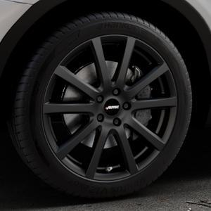 AUTEC Skandic Schwarz matt Felge mit Reifen in 19Zoll Winterfelge Alufelge auf silbernem BMW X3 Typ F25 (X3, X-N1) ⬇️ mit 15mm Tieferlegung ⬇️ Industriehalle 1 Thumbnail