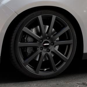 AUTEC Skandic Schwarz matt Felge mit Reifen in 19Zoll Winterfelge Alufelge auf silbernem Ford Focus III Typ DYB Facelift (Schrägheck) ⬇️ mit 15mm Tieferlegung ⬇️ Industriehalle 1 Thumbnail