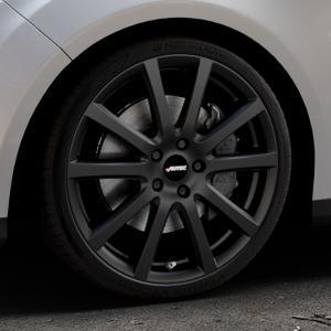 AUTEC Skandic Schwarz matt Felge mit Reifen in 19Zoll Winterfelge Alufelge auf silbernem Ford Focus III Typ DYB (Turnier) ⬇️ mit 15mm Tieferlegung ⬇️ Industriehalle 1 Thumbnail