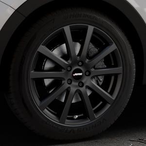 AUTEC Skandic Schwarz matt Felge mit Reifen in 19Zoll Winterfelge Alufelge auf silbernem Hyundai Santa Fé III Typ DM Facelift ⬇️ mit 15mm Tieferlegung ⬇️ Industriehalle 1 Thumbnail