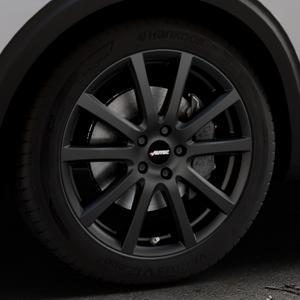 AUTEC Skandic Schwarz matt Felge mit Reifen in 19Zoll Winterfelge Alufelge auf silbernem Peugeot 5008 Typ M ⬇️ mit 15mm Tieferlegung ⬇️ Industriehalle 1 Thumbnail
