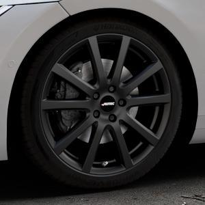AUTEC Skandic Schwarz matt Felge mit Reifen in 19Zoll Winterfelge Alufelge auf silbernem Volkswagen (VW) Arteon Typ 3H ⬇️ mit 15mm Tieferlegung ⬇️ Industriehalle 1 Thumbnail