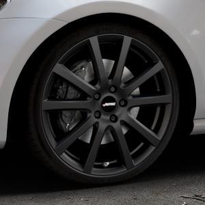 AUTEC Skandic Schwarz matt Felge mit Reifen in 19Zoll Winterfelge Alufelge auf silbernem Volkswagen (VW) Golf 7 ⬇️ mit 15mm Tieferlegung ⬇️ Industriehalle 1 Thumbnail