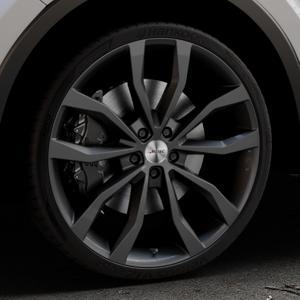 AUTEC Uteca Schwarz Felge mit Reifen in 21Zoll Winterfelge Alufelge auf silbernem Toyota C-HR Typ AX1T(EU,M) AX1T(EU,M)-TMG ⬇️ mit 15mm Tieferlegung ⬇️ Industriehalle 1 Thumbnail