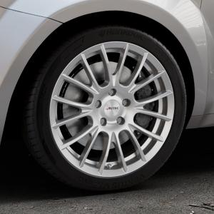 AUTEC Veron Kristallsilber Felge mit Reifen in 17Zoll Winterfelge Alufelge auf silbernem Alfa Romeo Mito Typ 955 ⬇️ mit 15mm Tieferlegung ⬇️ Industriehalle 1 Thumbnail