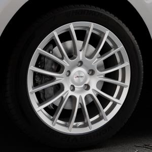 AUTEC Veron Kristallsilber Felge mit Reifen in 20Zoll Winterfelge Alufelge auf silbernem Jaguar F-Pace Typ DC ⬇️ mit 15mm Tieferlegung ⬇️ Industriehalle 1 Thumbnail