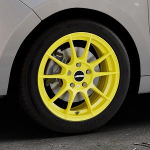 AUTEC Wizard Atomic Yellow Felge mit Reifen gelb in 16Zoll Winterfelge Alufelge auf silbernem Citroen C3 Picasso ⬇️ mit 15mm Tieferlegung ⬇️ Industriehalle 1 Thumbnail