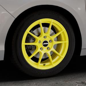 AUTEC Wizard Atomic Yellow Felge mit Reifen gelb in 16Zoll Winterfelge Alufelge auf silbernem Citroen C4 Typ N ⬇️ mit 15mm Tieferlegung ⬇️ Industriehalle 1 Thumbnail