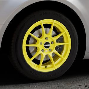 AUTEC Wizard Atomic Yellow Felge mit Reifen gelb in 16Zoll Winterfelge Alufelge auf silbernem Citroen C5 II ⬇️ mit 15mm Tieferlegung ⬇️ Industriehalle 1 Thumbnail