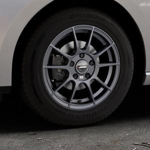 AUTEC Wizard Gunmetal matt Felge mit Reifen grau in 15Zoll Winterfelge Alufelge auf silbernem Seat Leon Typ 5F ST Facelift ⬇️ mit 15mm Tieferlegung ⬇️ Industriehalle 1 Thumbnail