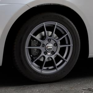 AUTEC Wizard Gunmetal matt Felge mit Reifen grau in 15Zoll Winterfelge Alufelge auf silbernem Suzuki Swift V Typ NZ FZ ⬇️ mit 15mm Tieferlegung ⬇️ Industriehalle 1 Thumbnail
