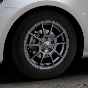 AUTEC Wizard Gunmetal matt Felge mit Reifen grau in 15Zoll Winterfelge Alufelge auf silbernem Volkswagen (VW) Golf 7 ⬇️ mit 15mm Tieferlegung ⬇️ Industriehalle 1 Thumbnail