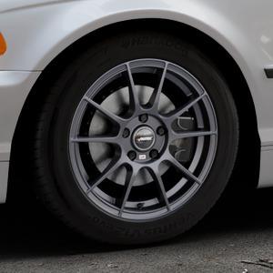 AUTEC Wizard Gunmetal matt Felge mit Reifen grau in 16Zoll Winterfelge Alufelge auf silbernem BMW 316i Typ E46 (Limousine) 318i 320i 323i 328i 325i 330d 330xd 330i 318d 320d 325xi 330xi ⬇️ mit 15mm Tieferlegung ⬇️ Industriehalle 1 Thumbnail