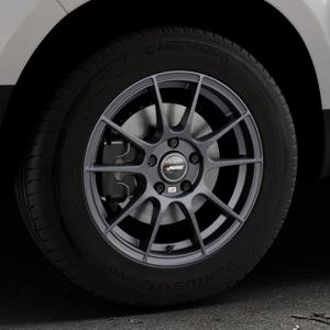 AUTEC Wizard Gunmetal matt Felge mit Reifen grau in 16Zoll Winterfelge Alufelge auf silbernem Dacia Duster Typ SD ⬇️ mit 15mm Tieferlegung ⬇️ Industriehalle 1 Thumbnail