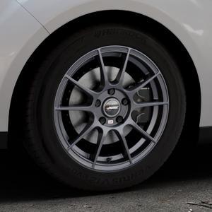 AUTEC Wizard Gunmetal matt Felge mit Reifen grau in 16Zoll Winterfelge Alufelge auf silbernem Ford C-Max II Typ DXA (10->) ⬇️ mit 15mm Tieferlegung ⬇️ Industriehalle 1 Thumbnail