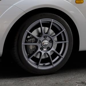 AUTEC Wizard Gunmetal matt Felge mit Reifen grau in 16Zoll Winterfelge Alufelge auf silbernem Ford Fiesta V Typ JH1/JD3 ⬇️ mit 15mm Tieferlegung ⬇️ Industriehalle 1 Thumbnail